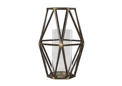 Devo Black/Gold Candle Holder