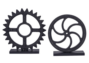 Dermot Antique Black Sculpture Set (Set of 2)
