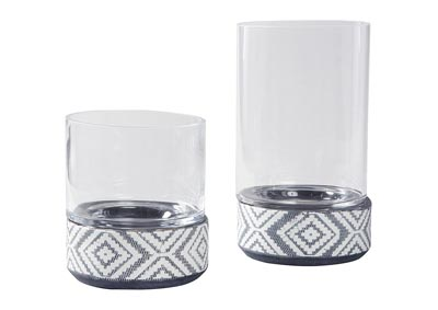 Dornitilla Brown Candle Holder Set (Set of 2)