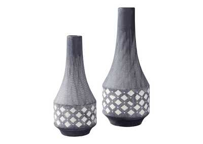 Image for Derrick Silver Finish Vase Set (Set of 2)