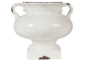 Dierdra Antique White Urn
