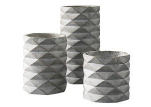 Charlot Gray Vase (Set of 3)