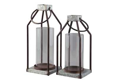 Image for Diedrick Gray/Black Lantern Set (Set of 2)