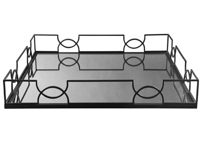 Dionicio Black Metal Tray