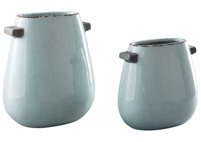 Diah Blue Vase (Set of 2)