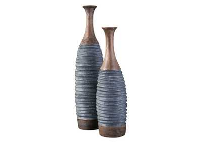 BLAYZE Antique Gray/Brown Vase (Set of 2)