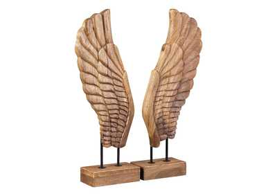 BRANDEN Natural Sculpture (Set of 2)