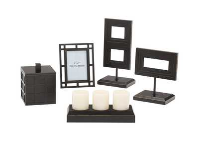 Black Deidra 5-Piece Accessory Set
