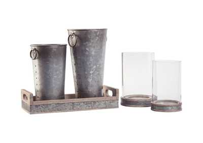 Image for Donae Natural/Gray 5 Piece Accessory Set