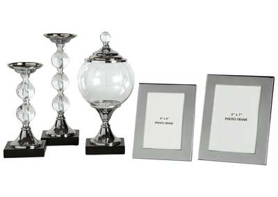 Image for Diella Silver Finish Accessory Set (5/CN)