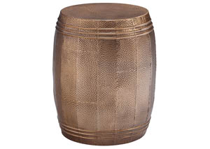 Elazer Copper Finish Stool