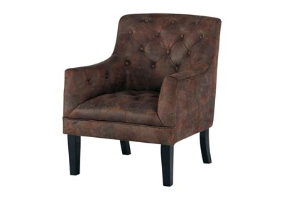 Drakelle Mahogany Fabric Accent Chair