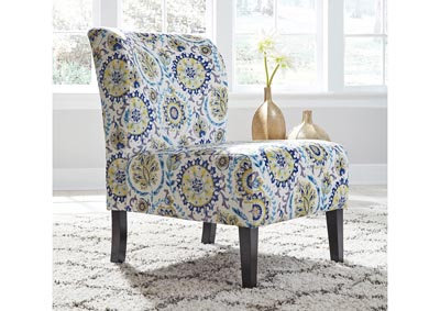 Triptis Blue Patterned Accent Chair