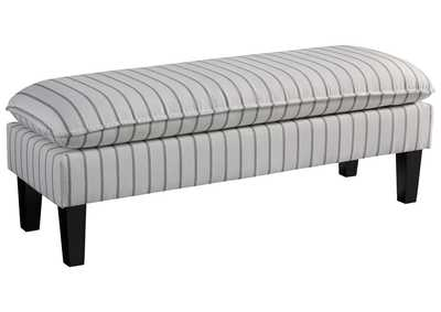 Image for Arrowrock White/Gray Accent Bench