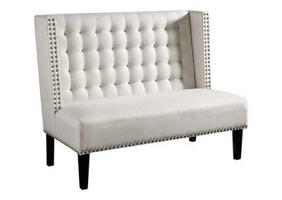 Image for Beauland Ivory Accent Bench