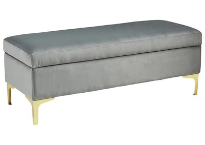 Bachwich Gray Storage Bench
