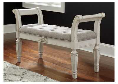 Image for Realyn White Accent Bench