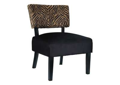 Parvin Gold/Black Accent Chair