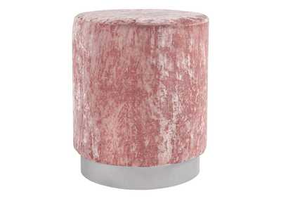 Lancer Blush Pink Accent Ottoman