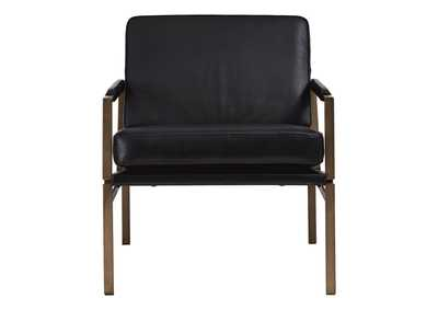 Puckman Black Accent Chair