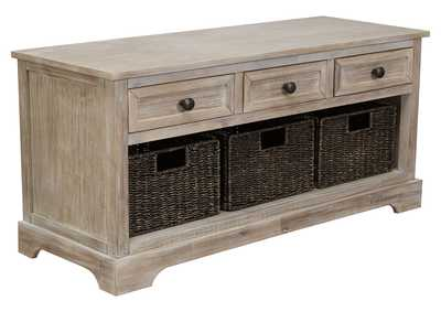 Oslember Brown Storage Bench