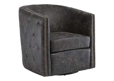 Brentlow Distressed Black Accent Chair