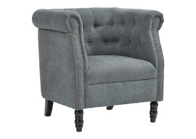 Jacquelyne Slate Blue Accent Chair