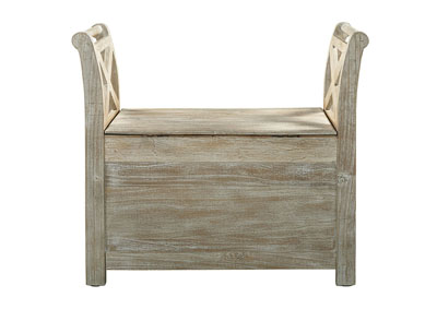 Fossil Ridge Whitewash Accent Bench,Signature Design By Ashley