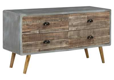 Image for Camp Ridge Brown Sofa/Console Table