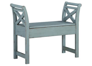 Blue Accent Bench