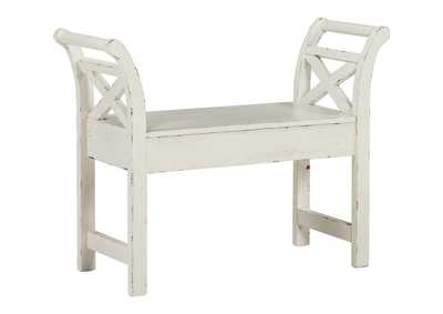 Image for Heron Ridge White Accent Bench