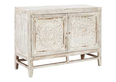 Fossil Ridge Light Brown Door Accent Cabinet