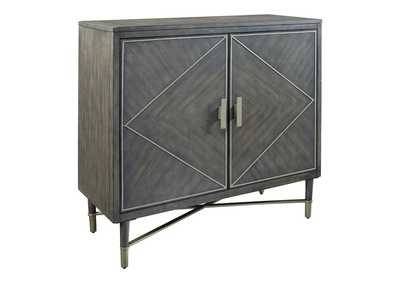 Aidanburg Antique Black Accent Cabinet