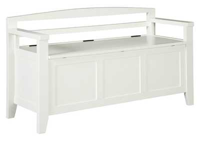 Image for Charvanna White Storage Bench