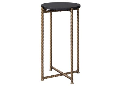 Brycewood Black/Gold Finish Accent Table