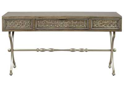 Image for Quinnland Antique Black Console Sofa Table