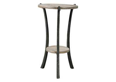 Enderton White Wash/Pewter Accent Table