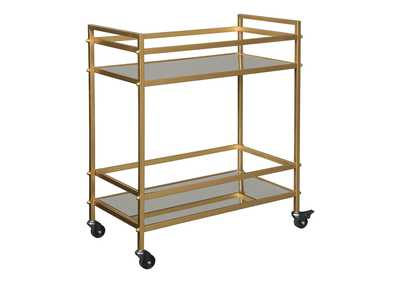 Image for Kailman Gold Finish Bar Cart