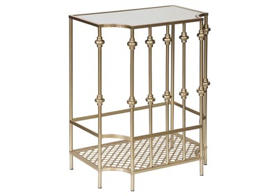 Jorenton Champagne Metal Accent Table
