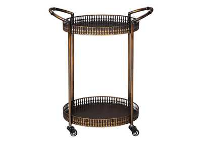 Clarkburn Brown Bar Cart,Signature Design By Ashley