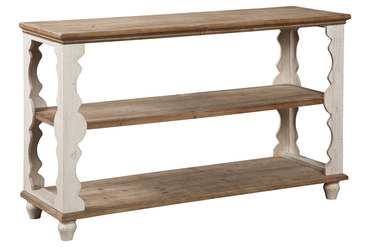 Alwyndale Antique White/Brown Console Table