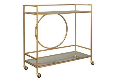 Image for Jackford Antique Gold Finish Bar Cart