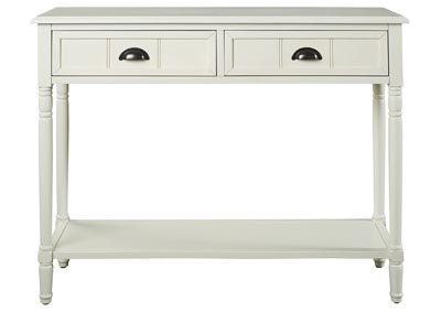Goverton White Console Sofa Table
