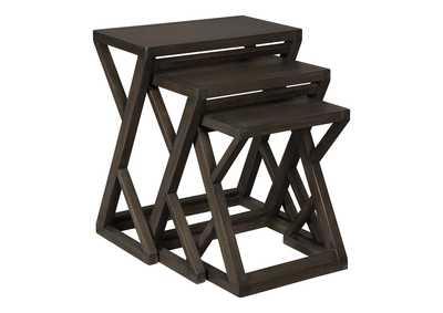 Cairnburg Brown Accent Table Set (Set of 3)