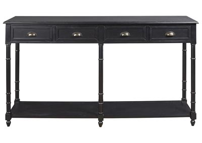 Eirdale Black Console Sofa Table