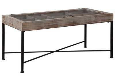 Image for Shellmond Antique Gray/Black Accent Cocktail Table