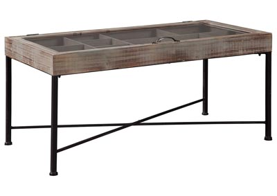 Shellmond Antique Gray/Black Accent Cocktail Table