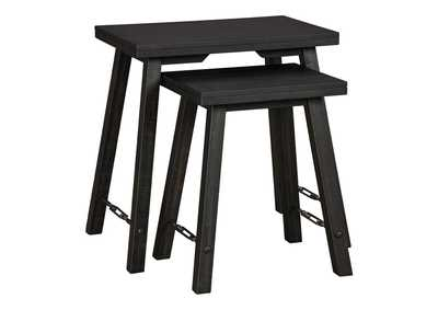 Marisburg Black Accent Table (Set of 2)