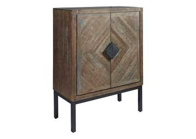 Image for Premridge Antique Gray Bar Cabinet