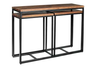 Jadenley Brown/Black Console Table (Set of 3)